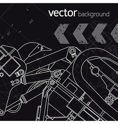Technology background version 3 vector image