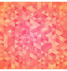Threadbare background with triangles vector