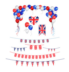 union jack flag decor vector image
