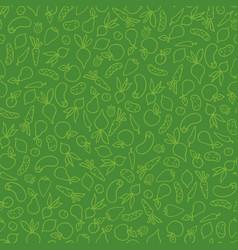 vegetable seamless pattern healthy food vector image