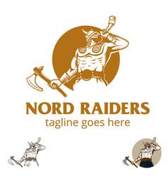 vikings nord raiders vector image
