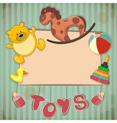 Vintage Design Toys Frame vector image vector image