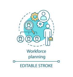Workforce planning concept icon vector