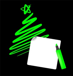 Abstract christmas tree the simple draw vector image