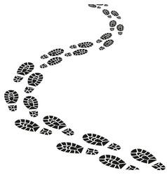 black footprints silhouette set vector image vector image