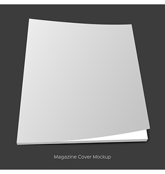 blank brochure or magazine mockup vector image vector image