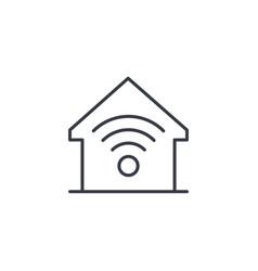 smart home wireless technology digital house vector image