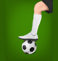 soccer player with ball leg of a football vector image