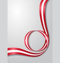 austrian flag wavy background vector image vector image