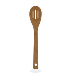 bamboo spoon vector image vector image