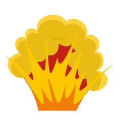 Flame and smoke icon isolated vector