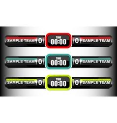 Scoreboard elements collection vector