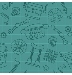 Smart robot parts and details pattern vector image