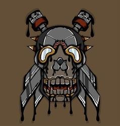 Steampunk Ink Skull vector image vector image