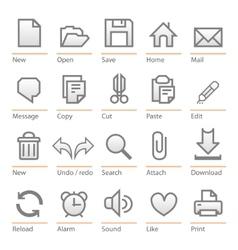 universal software icon set big size vector image vector image