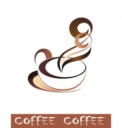 coffee tea cup vector image vector image
