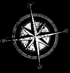 drawing of a compass vector image