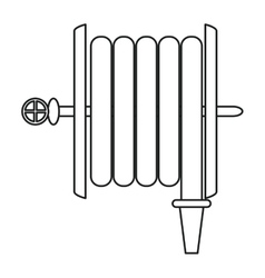 Fire hose holding wall line vector