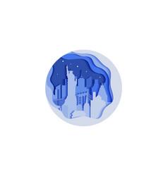 background circle icon flat vector image