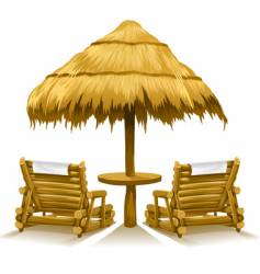 Beach chairs vector