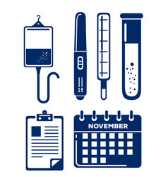 hospital and medical center icons vector image