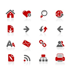 web navigation icons vector image vector image