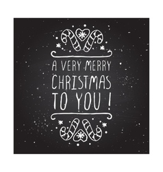 A very merry christmas to you - typographic vector image