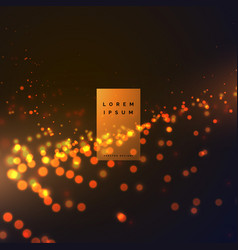 Abstract bokeh particle effect background with vector