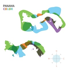 Abstract color map of Panama vector