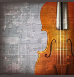 abstract grunge gray music background with violin vector image