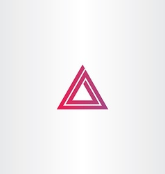 abstract triangle spiral logo vector image
