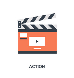 action icon concept vector image