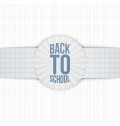Back to school greeting label on paper ribbon vector