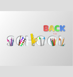 back to school typography design vector image