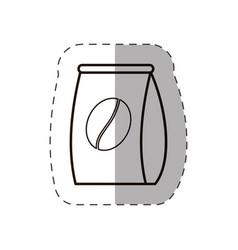 Bag coffee bean fresh line vector