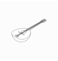 Banjo icon isometric 3d style vector
