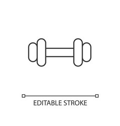 barbell linear icon vector image