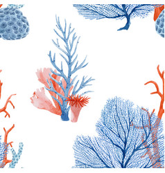 Beautiful seamless pattern with underwater vector