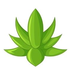 Big agave icon cartoon style vector