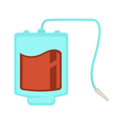 blood pack dropper donation and healthcare medical vector image