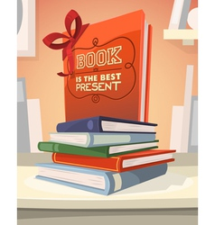 Book is the best present vector