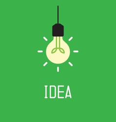 Bulb with idea concept vector image