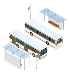 Bus and shelter vector