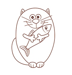 Cat fish vector