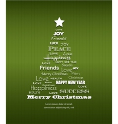 Christmas background with Christmas tree full of vector