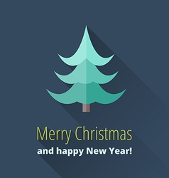 Christmas card with Christmas trees vector image
