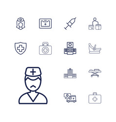 Clinic icons vector