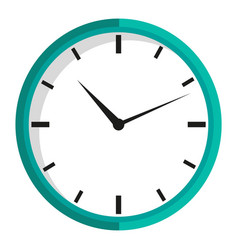 Clock isolated icon time measuring device vector