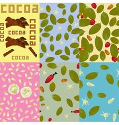 Cocoa Patterns vector