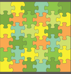 color puzzles - task for thinking vector image